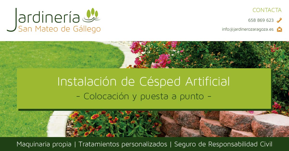Instalaci n de c sped artificial jardinero zaragoza y san mateo de g llego - Cesped artificial zaragoza ...